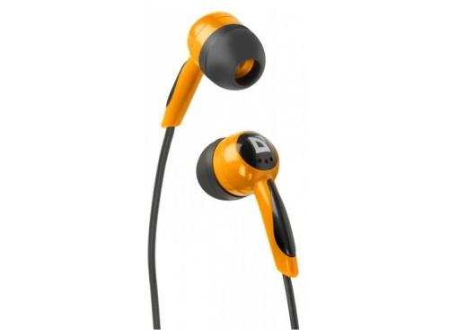 Наушники Defender BASIC 604 Чёрные/Оранжевые, вид 1