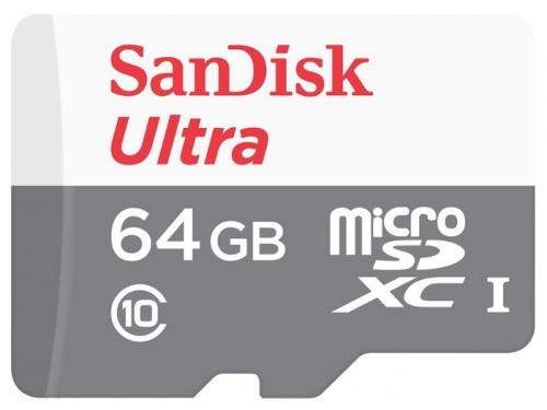 Карта памяти Sandisk Ultra microSDXC 64Gb Class 10, вид 1