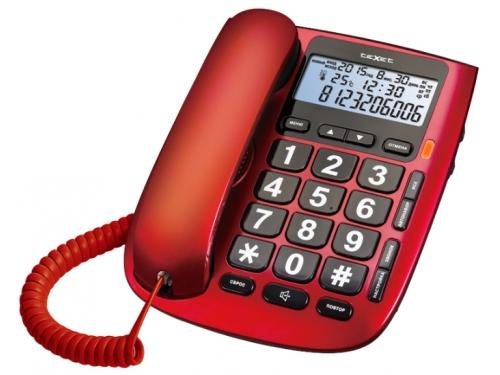 Проводной телефон teXet TX-260 Красный, вид 1