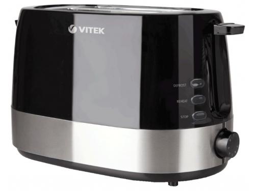 Тостер VITEK VT-1584 BK черно-серебристый, вид 1