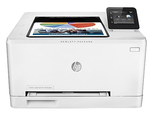 Лазерный ч/б принтер HP Color LaserJet Pro M252dw, белый, вид 1