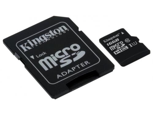 Карта памяти Kingston SDC10G2/16GB (с адаптером), вид 1
