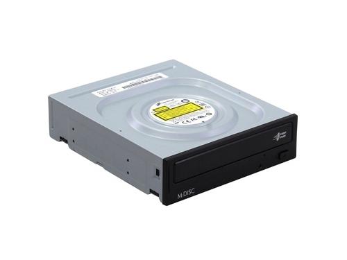 Оптический привод LG GH24NSD0 (SATA, CD-RW / DVD±RW DL / DVD-RAM / DVD M-DISC), чёрный, вид 1