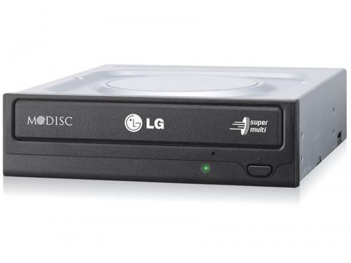 Оптический привод LG GH24NSD0 (SATA, CD-RW / DVD±RW DL / DVD-RAM / DVD M-DISC), чёрный, вид 2