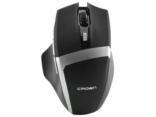 Мышка CROWN Gaming CMXG-801 (оптическая, радиоканал, 2xAA, 6+1 кнопок), чёрная, вид 1