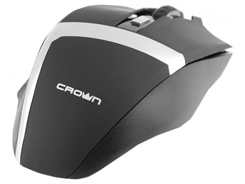Мышка CROWN Gaming CMXG-801 (оптическая, радиоканал, 2xAA, 6+1 кнопок), чёрная, вид 3