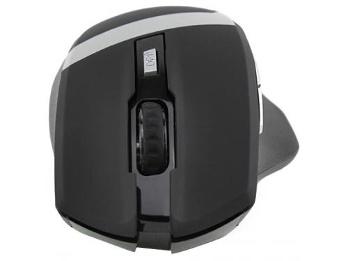 Мышка CROWN Gaming CMXG-801 (оптическая, радиоканал, 2xAA, 6+1 кнопок), чёрная, вид 4