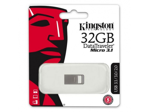 Usb-флешка Kingston DataTraveler Micro 3.1 DTMC3 / 32GB (USB 3.1), вид 2