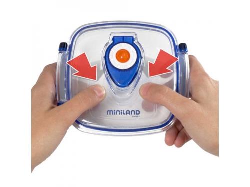 Товар для детей Термосумка Miniland Pack-2-Go-Hermifresh с 2 вакуумными контейнерами Синяя, вид 3