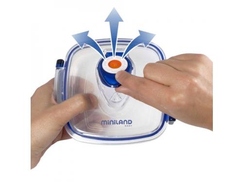 Товар для детей Термосумка Miniland Pack-2-Go-Hermifresh с 2 вакуумными контейнерами Синяя, вид 4