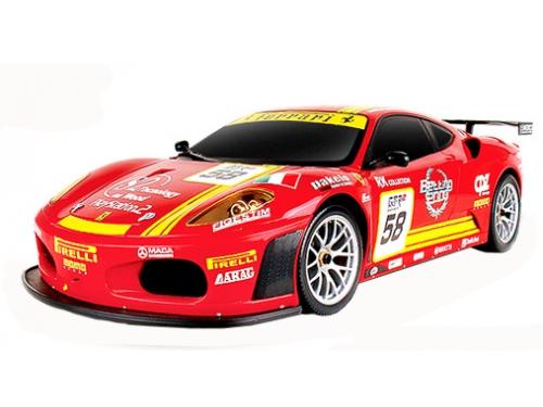 Радиоуправляемая модель MJX Ferrari F430 GT #58, красная, вид 1