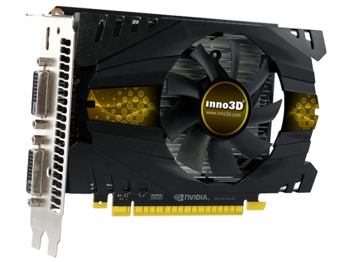 Видеокарта GeForce INNOVISION PCI-E NV GTX750Ti 2048MB DDR5 128bit DUAL DVI, MINI-HDMI N75T-1DDV-E5CW, вид 1