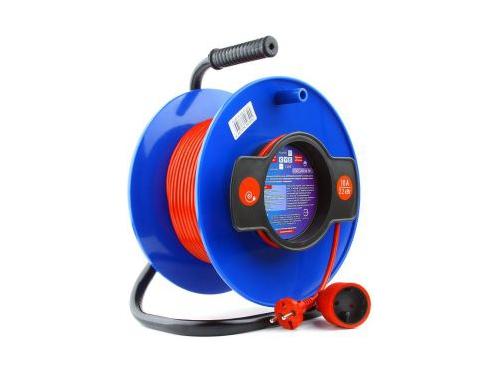 Удлинитель электрический PowerCube PC-B1-K-50, оранжевый/синий, вид 1