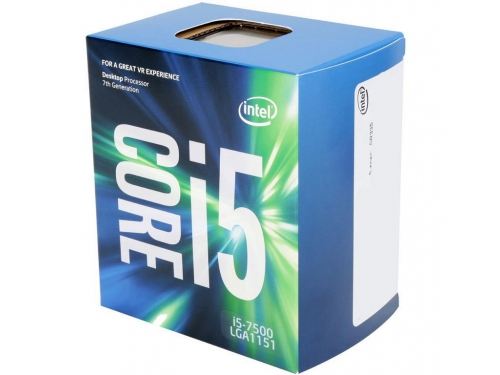 Процессор Intel Core i5-7500 Kaby Lake (3400MHz, LGA1151, L3 6144Kb, Retail), вид 1