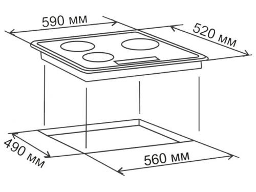 Варочная поверхность  Electronicsdeluxe 605304.01эви, черная, вид 2