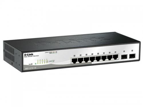 Коммутатор (switch) D-Link DGS-1210-10/C1A (управляемый), вид 1
