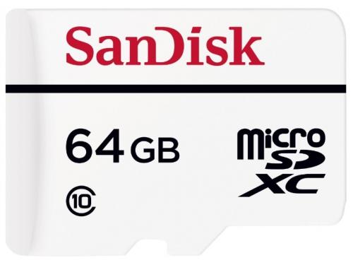 Карта памяти SanDisk MicroSDXC 64Gb class10 (High Endurance Video Monitoring) + SD-адаптер, вид 2