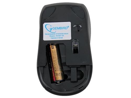 Мышка Gembird MUSW-100 Black USB (1200 dpi), вид 3