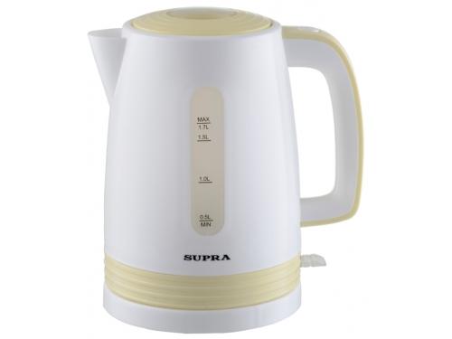 Чайник электрический Supra KES-1723 белый/желтый, вид 1