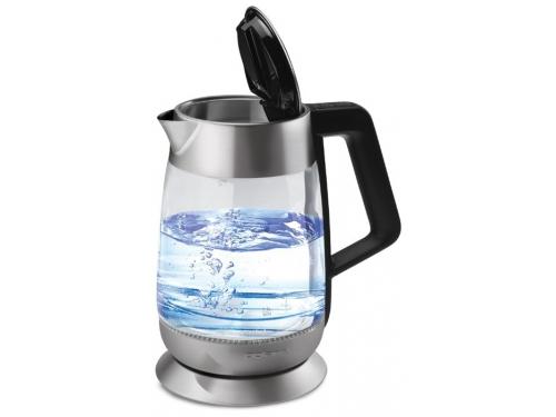 Чайник электрический Polaris PWK 1838CGLD, черный, вид 4