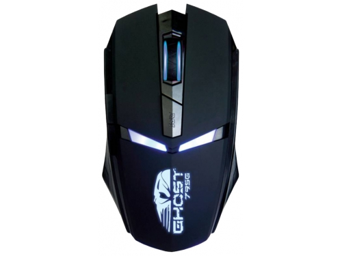 Мышка Oklick 795G GHOST (USB, 2400 dpi) чёрная, вид 1