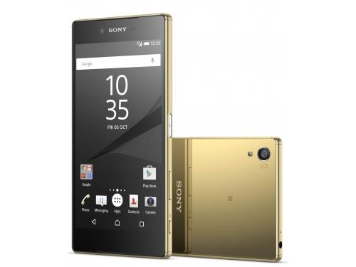Смартфон Sony Xperia Z5 Premium Dual LTE E6883, золотистый, вид 1