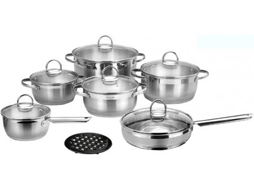 Набор посуды VITESSE Flora VS-1043 (13 предметов, комбинированная полировка), вид 1