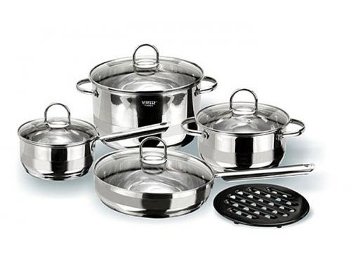 Набор посуды VITESSE Azura VS-1005 (9 предметов, полировка комбинированная), вид 1