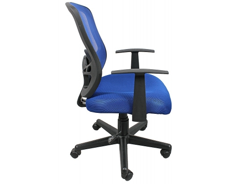 Компьютерное кресло COLLEGE HLC-0420-1C-1 (ткань, сетчатый акрил, синее), вид 2