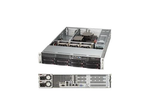 Серверная платформа SuperMicro SYS-6028R-WTR (2U, 2xCPU, 8xHDD), вид 1
