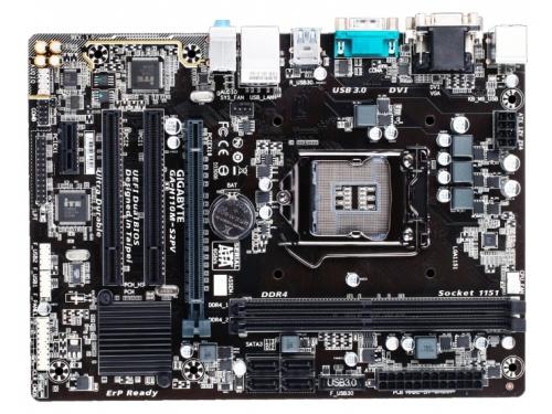 Материнская плата GIGABYTE GA-H110M-S2PV Soc-1151 DDR4, вид 1