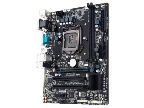 Материнская плата GIGABYTE GA-H110M-S2PV Soc-1151 DDR4, вид 2