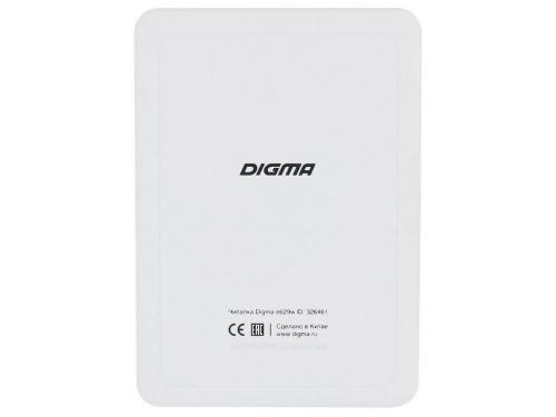 Электронная книга Digma E629 (6''E-Ink 1024x758, 128Mb + 4Gb, microSDHC), белая, вид 4