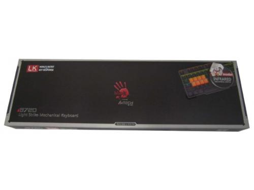 Клавиатура A4teck Bloody B720 (USB, оптомеханическая), чёрная, вид 6