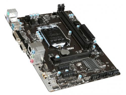 Материнская плата MSI H81M PRO-VD (Socket 1150, H81, 2xDDRIII, mATX, SATA2/3, USB2.0/3.0, VGA / DVI-D), вид 2