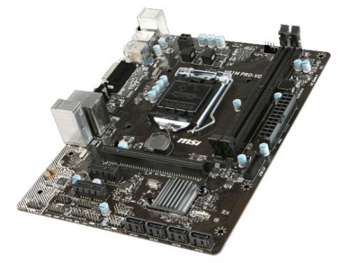 Материнская плата MSI H81M PRO-VD (Socket 1150, H81, 2xDDRIII, mATX, SATA2/3, USB2.0/3.0, VGA / DVI-D), вид 3