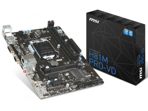 Материнская плата MSI H81M PRO-VD (Socket 1150, H81, 2xDDRIII, mATX, SATA2/3, USB2.0/3.0, VGA / DVI-D), вид 6