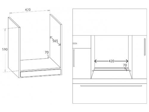 Духовой шкаф Korting OKB 7951 CMN, электрический, вид 2
