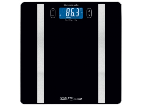 Напольные весы Scarlett SL-BS34ED42, черные, вид 1