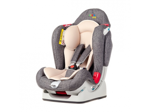 Автокресло детское Liko Baby LB 510, серое/лен, вид 1