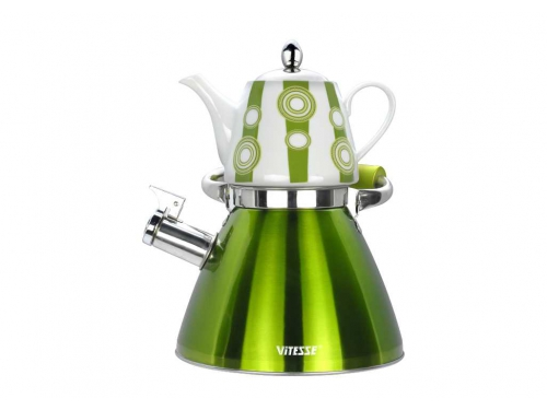 Набор чайников Vitesse VS-7812 (3,0 л) зелёный, вид 1