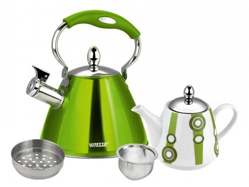 Набор чайников Vitesse VS-7812 (3,0 л) зелёный, вид 2