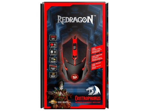 Мышь Defender Redragon Centrophorus Black-Red USB, вид 6