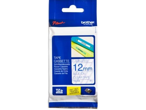 Лента для печати наклеек Brother TZ-E133 12mm Blue, вид 1