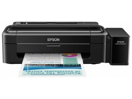 Струйный цветной принтер Epson L312 Чёрный, вид 1