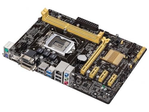 Материнская плата ASUS H81M PLUS Soc-1150 H81 DDRIII mATX SATA3  LAN-Gbt USB3.0, вид 2