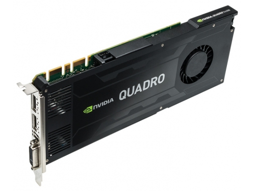 Видеокарта профессиональная PNY PCI-Ex Quadro K4200 (VCQK4200-PB) 4096MB, DDR5 DVI 2*DP, вид 3