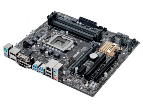Материнская плата ASUS B150M-C Soc-1151 B150 DDR4 mATX SATA3  LAN-Gbt USB3.0 VGA/DVi/HDMI/DP, вид 1
