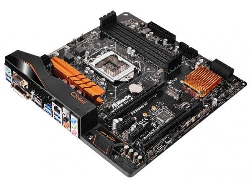 Материнская плата ASRock H170M PRO4 Soc-1151 H170 DDR4 mATX SATA3  LAN-Gbt USB3.0 VGA/DP/DVi/HDMI, вид 1