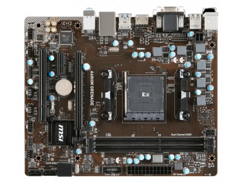 Материнская плата MSI A68HM GRENADE Soc-FM2+ AMD A68H DDR3 mATX AC'97 5ch GbLAN VGA/DVI/HDMI, вид 2